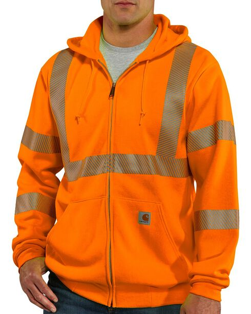 Carhartt High-Visibility Class 3 Thermal Lined Sweatshirt, Orange, hi-res