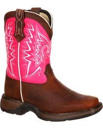 Lil' Durango Toddler Girls' Let Love Fly Western Boots, , hi-res