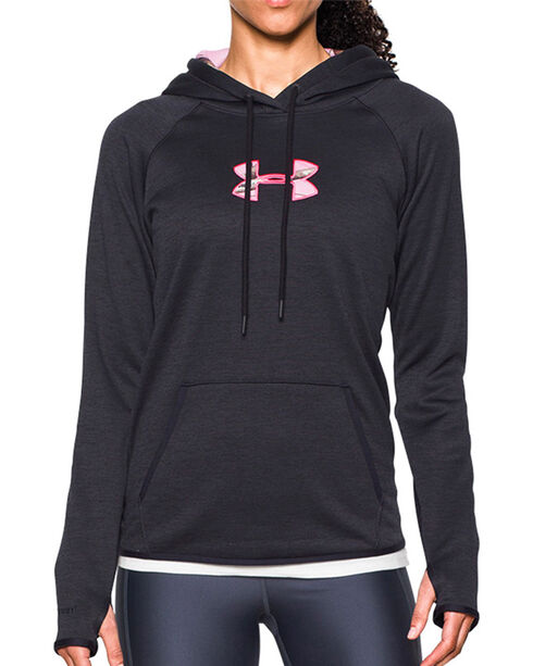 Under Armour Women's Caliber Hoodie, Black, hi-res