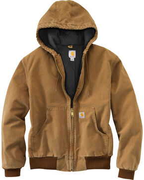 Carhartt Quilted Flannel Lined Duck Active Jacket, Brown, hi-res