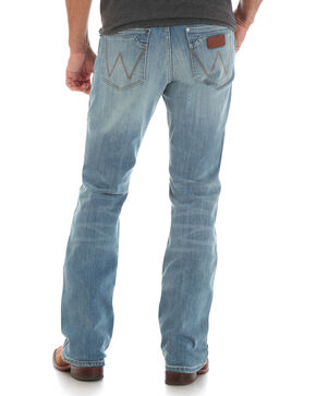 Wrangler Men's Blue Retro Relaxed Fit Jeans - Boot Cut , Blue, hi-res