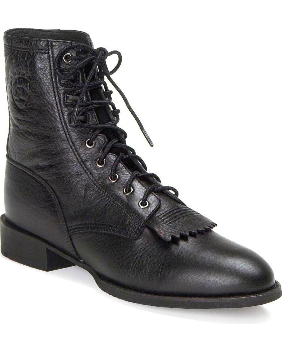 Ariat Men's Heritage Lacer Western Boots, Black, hi-res