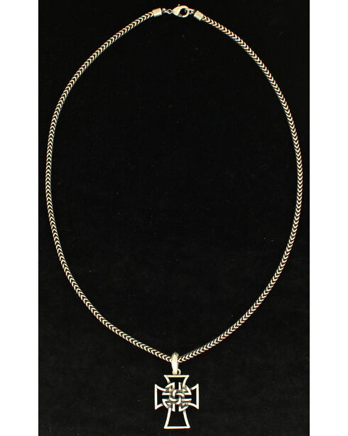 Twister Men's Celtic Cross Necklace, Silver, hi-res