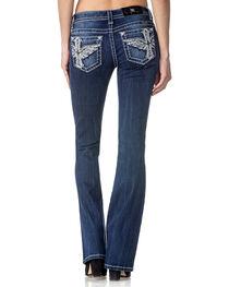 Miss Me Women's Divine Beauty Mid Rise Boot Cut Jeans, , hi-res