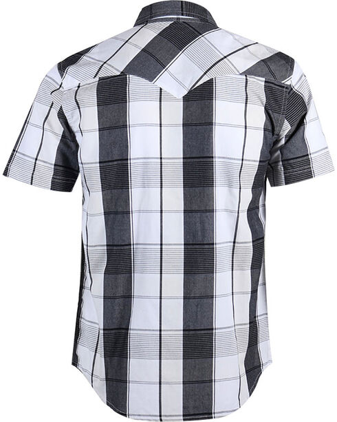 Levi's Men's Short Sleeve Plaid Western Shirt, Black, hi-res