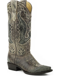 Stetson Women's Hannah Wingtip Underlay Western Boots - Snip Toe, , hi-res