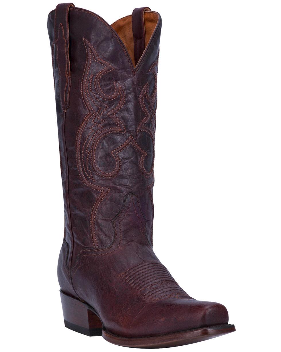 El Dorado Men's Handmade Chocolate Goatskin Cowboy Boots - Square Toe, Chocolate, hi-res
