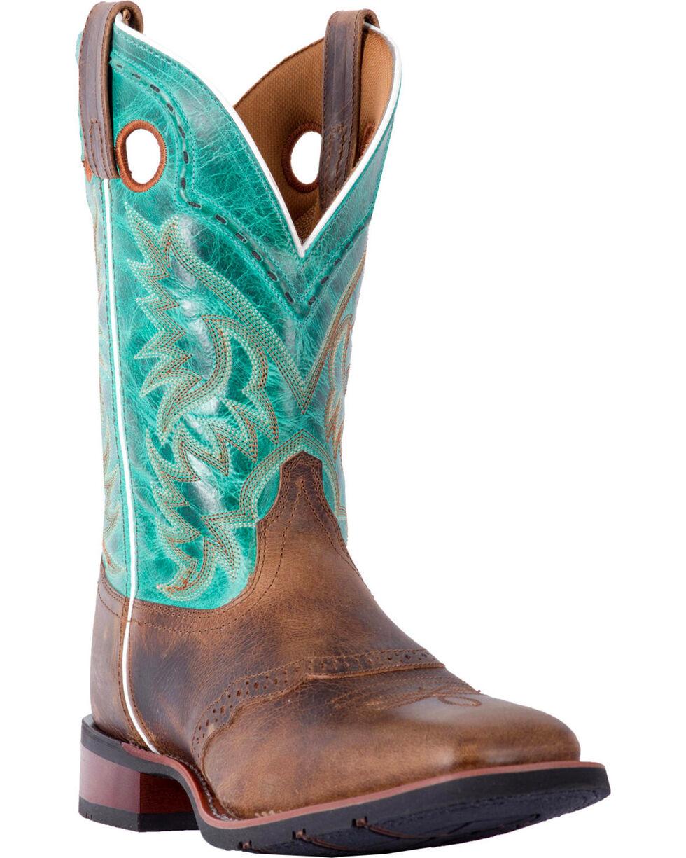 Laredo Men's Ward Tan Turquoise Cowboy Boots - Square Toe, , hi-res