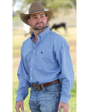 Cinch Men's Royal Blue Geo Print Western Shirt , Royal Blue, hi-res