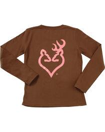 Browning Women's Brown Buckheart Long Sleeve T-Shirt  , , hi-res
