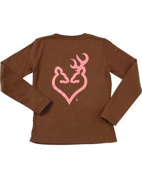 Browning Women's Brown Buckheart Long Sleeve T-Shirt  , Brown, hi-res