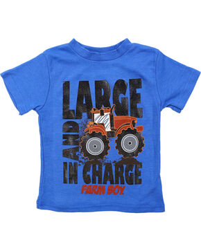 Farm Boy Toddler's Large and In Charge T-Shirt, Blue, hi-res