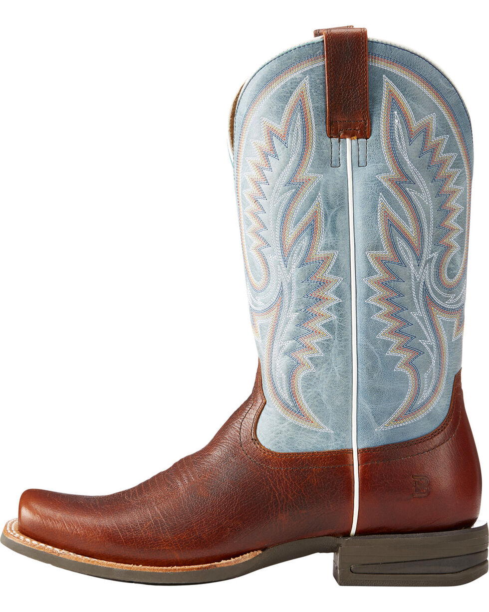 Ariat Men's Brown Advantage Western Leather Boots - Square Toe , Brown, hi-res