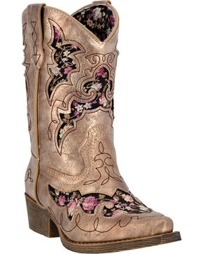 Laredo Children's Sabre Western Boots, Gold, hi-res