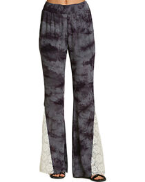 Umgee Women's Bold Print Tie Dye Pants, , hi-res