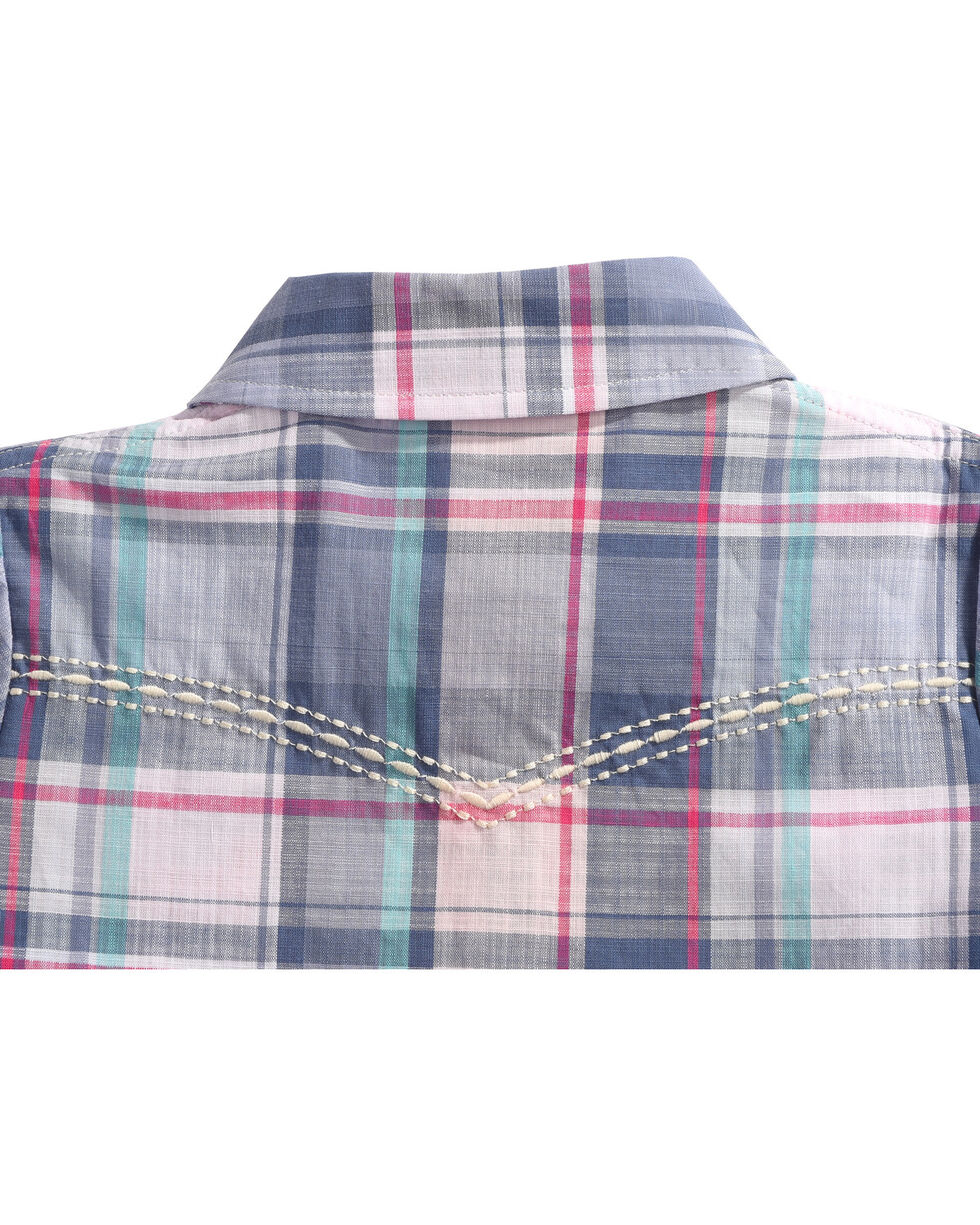Shyanne® Infant Girls' Plaid Long Sleeve Onesie, , hi-res