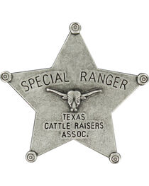 M&F Western Boys' Silver Ranger Star Badge , , hi-res