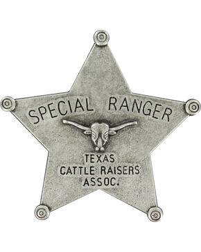 M&F Western Boys' Silver Ranger Star Badge , Silver, hi-res