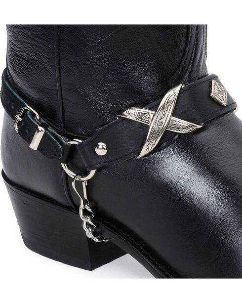 Buckle Boot Harness, Black, hi-res