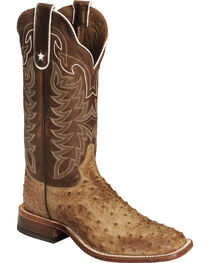 Tony Lama Men's Full Quill Ostrich Boot - Square Toe, , hi-res