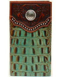Nocona Men's Rodeo Croc Rawhide Wallet, , hi-res