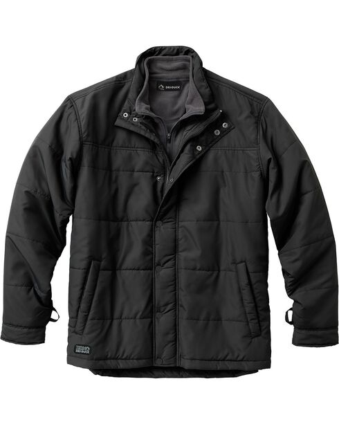 Dri Duck Men's Traverse Polyester Jacket, Black, hi-res