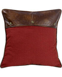 HiEnd Accents Ruidoso Collection Red Euro Pillow Sham, , hi-res