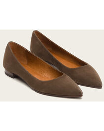 Frye Women's Brown Suede Sienna Ballet Shoes , , hi-res