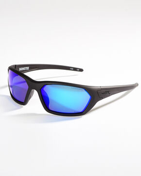 Wiley X Ignite Polarized Safety Sunglasses , Black, hi-res