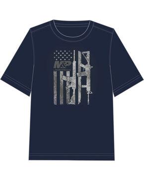 M&P by Smith & Wesson Men's Gun Flag T-Shirt, Navy, hi-res