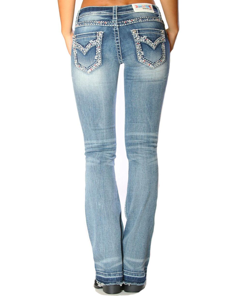 Grace in LA Women's Released Hem Jeans - Boot Cut , Indigo, hi-res