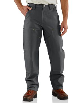 Carhartt Firm Duck Double-Front Work Dungaree Pants, Grey, hi-res