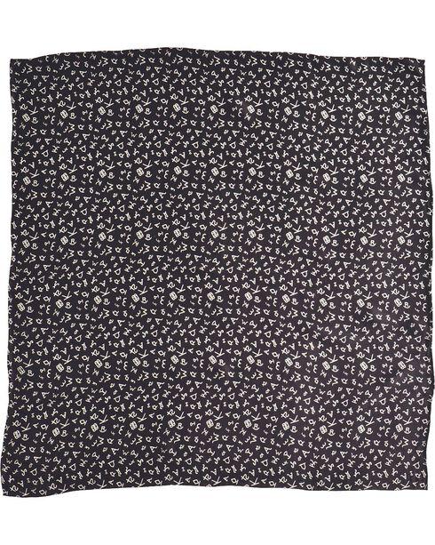 Black Branding Design Silk Wild Rag, Black, hi-res