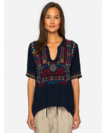 Johnny Was Women's Glyeis Rayon Blouse , , hi-res