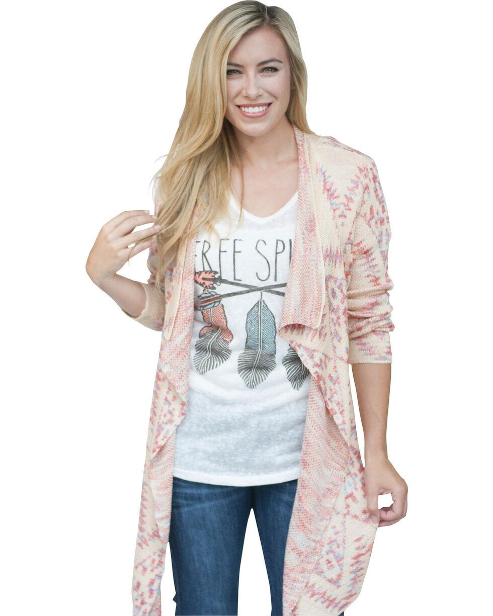 Petrol Women's Softie Ikat Sweater, Pink, hi-res