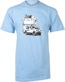Yeti Men's Adventure Vehicle Graphic Tee, Light/pastel Blue, hi-res