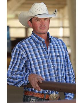 Cinch Men's Royal Blue Plaid Western shirt, Royal Blue, hi-res