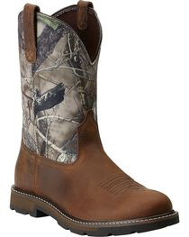 Ariat Men's Groundbreaker Pull-On Work Boots, , hi-res