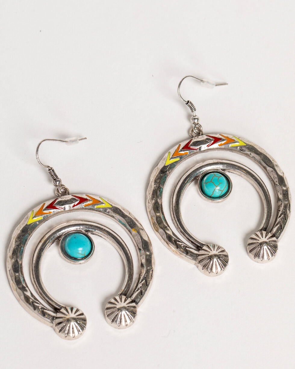 Shyanne Women's Fiesta Crescent Earrings, Multi, hi-res