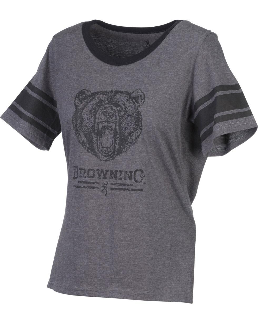 Browning Women's Gardenia Grey Short Sleeve Shirt, Grey, hi-res