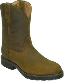Twisted X Distressed Pull-On Work Boots - Round Toe, , hi-res
