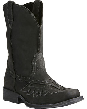 Arait Men's Rambler Renegade Western Boots, Black, hi-res