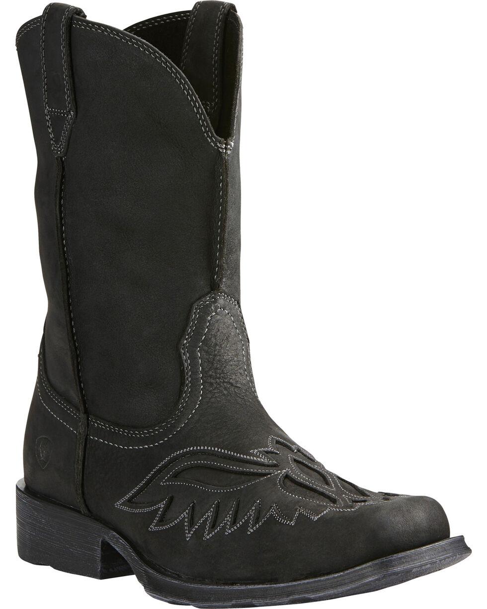 Arait Men's Rambler Renegade Western Boots, Black, hi-res