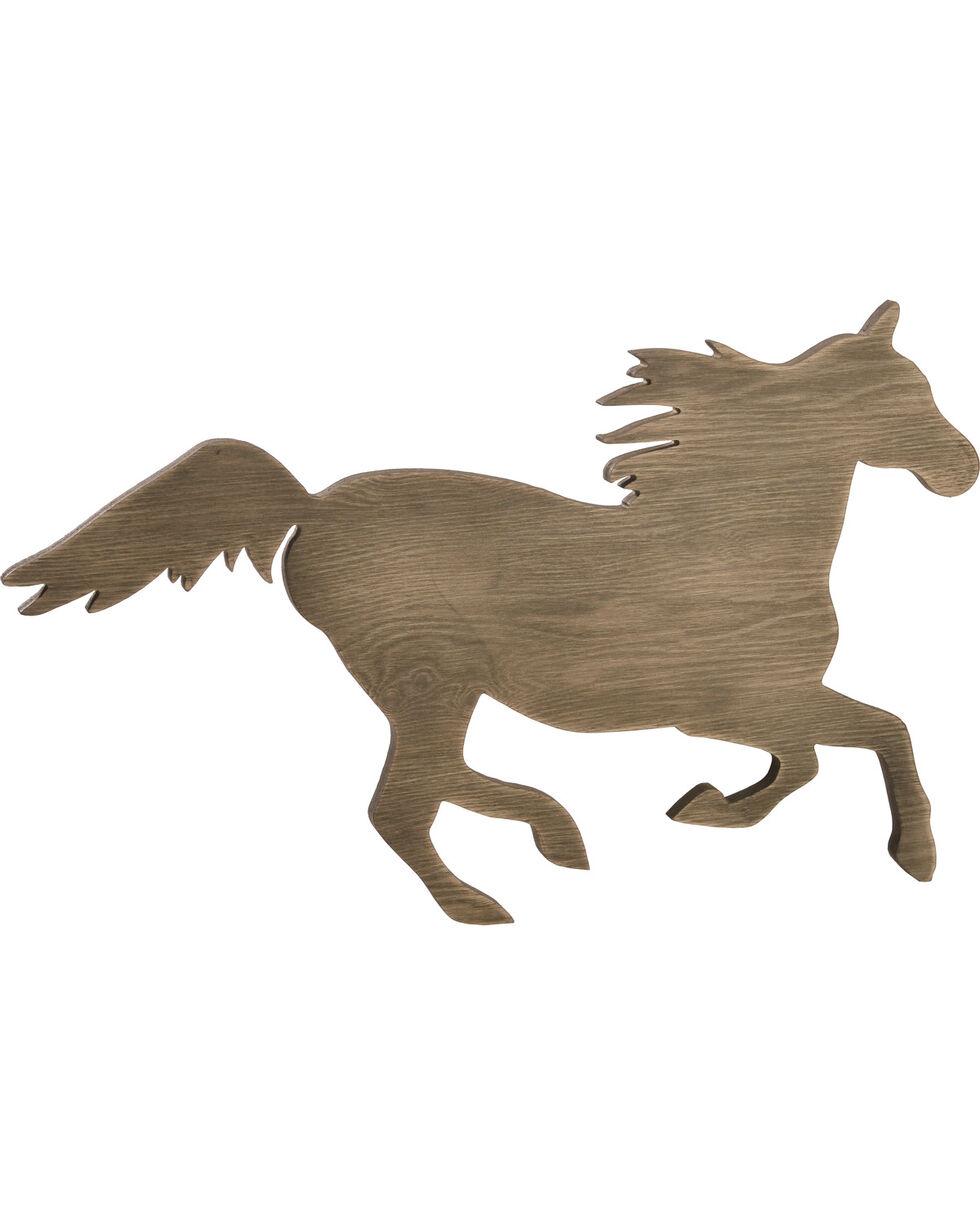 BB Ranch® Wood Horse Wall Decor, No Color, hi-res
