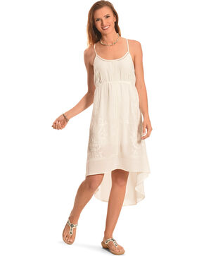 Miss Me Women's White Cross-Back Dress, Off White, hi-res