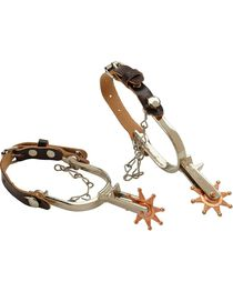 M&F Kid's Spur Set with With Leather Straps, , hi-res