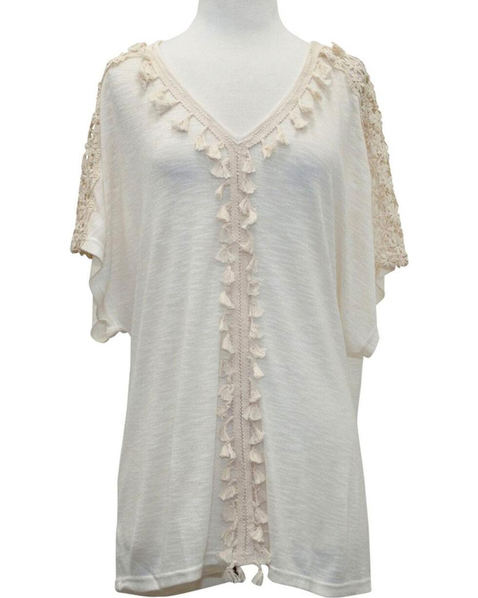 Young Essence Women's Boho Knit Tunic, Beige/khaki, hi-res