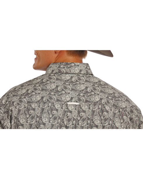 Tuf Cooper by Panhandle Men's Dark Paisley Printed Long Sleeve Shirt, Black, hi-res