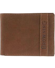 Browning Men's Cowboy Bi-Fold Leather Wallet, , hi-res