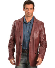 Scully Black Cherry Lamb Leather Blazer - Big, , hi-res